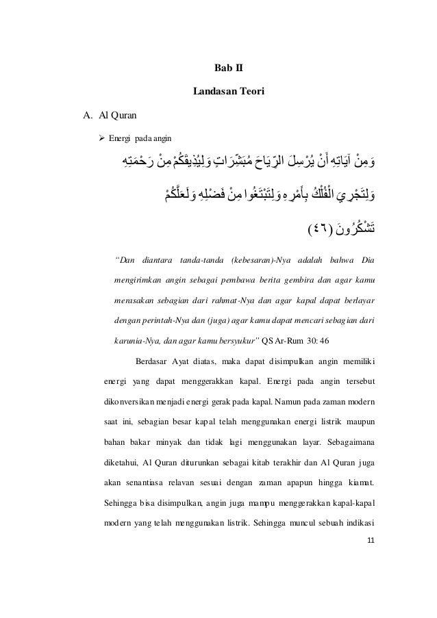 11 Bab II Landasan Teori A. Al Quran  Energi pada angin ِهِتَمْحَر ْنِم ْمُكَقِيذُيِل َو ٍ...