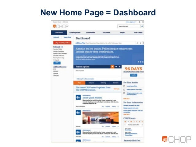 New Home Page = Dashboard