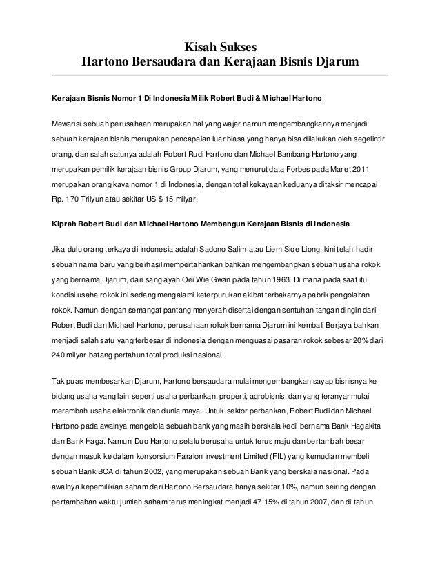 Kisah Sukses  Hartono Bersaudara dan Kerajaan Bisnis Djarum  Kerajaan Bisnis Nomor 1 Di Indonesia Milik Robert Budi & Mich...