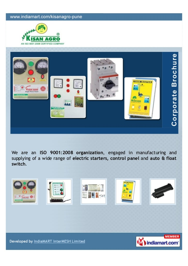 We are an ISO 9001:2008 organization, engaged in manufacturing andsupplying of a wide range of electric starters, control ...