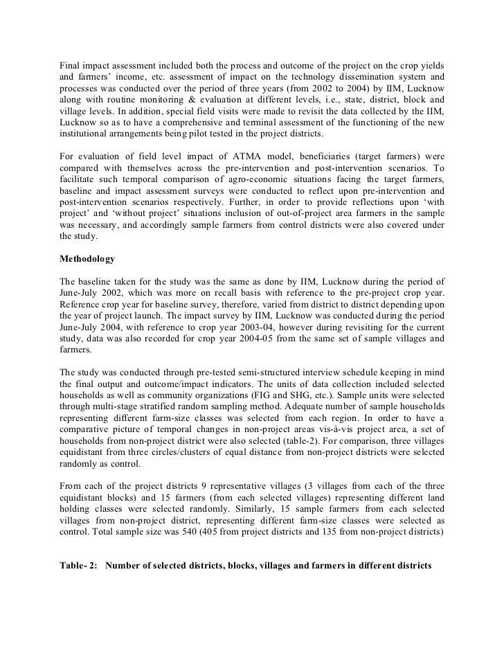 Impact of ATMA Model in Bihar