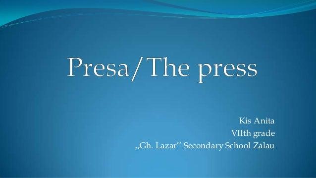 Kis Anita VIIth grade ,,Gh. Lazar'' Secondary School Zalau