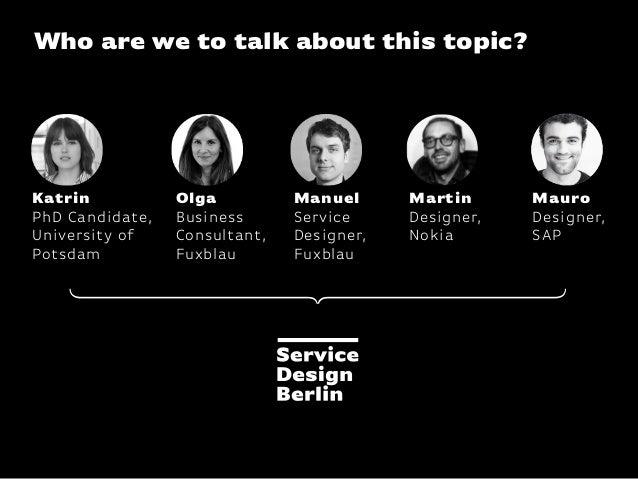 KISD Conference / Bringing Service Design In-House Slide 2