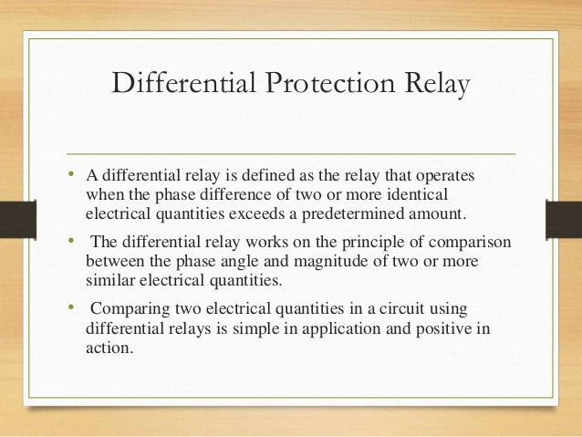 Differential protection relay differential protection asfbconference2016 Gallery