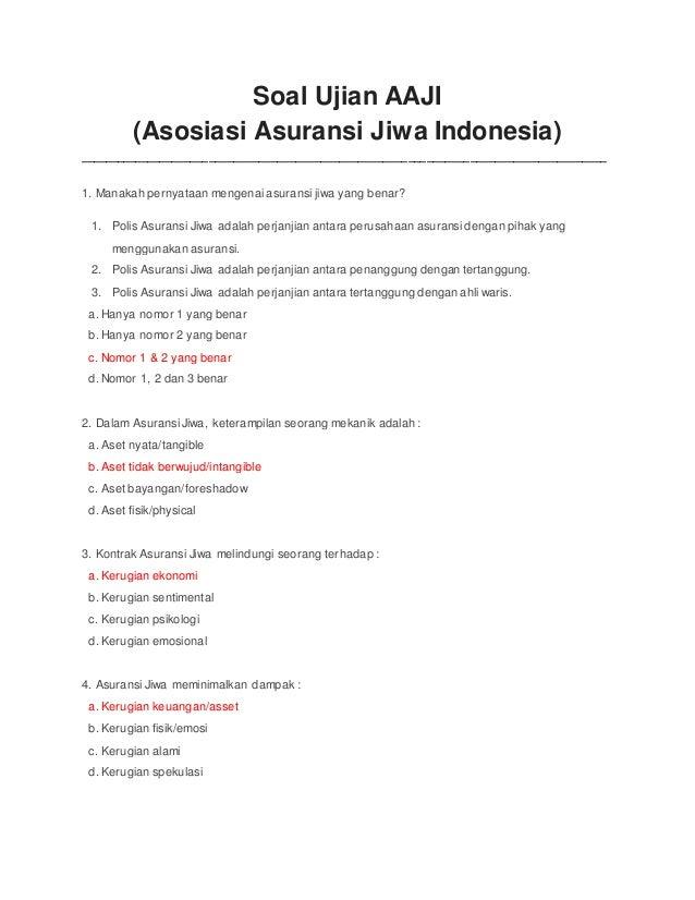 Soal Ujian Aaji Download Lengkap