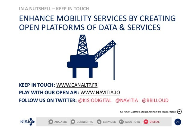 IN A NUTSHELL – KEEP IN TOUCH 20 ENHANCE MOBILITY SERVICES BY CREATING OPEN PLATFORMS OF DATA & SERVICES Oil rig by Gabrie...