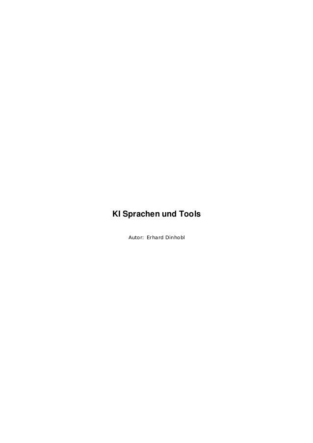 KI Sprachen und Tools Autor: Erhard Dinhobl