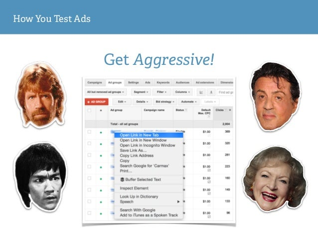 How You Test Ads Get Aggressive!