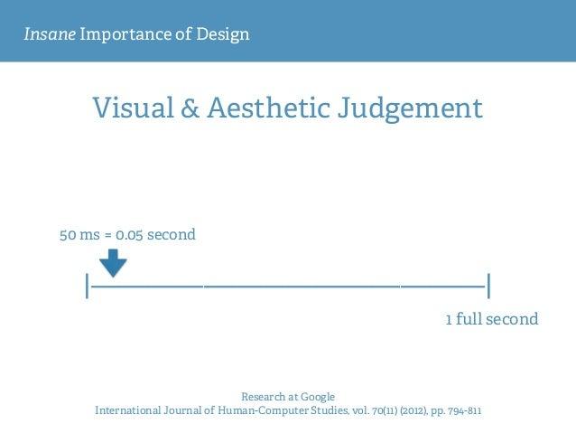 Insane Importance of Design Visual & Aesthetic Judgement Research at Google International Journal of Human-Computer Studi...