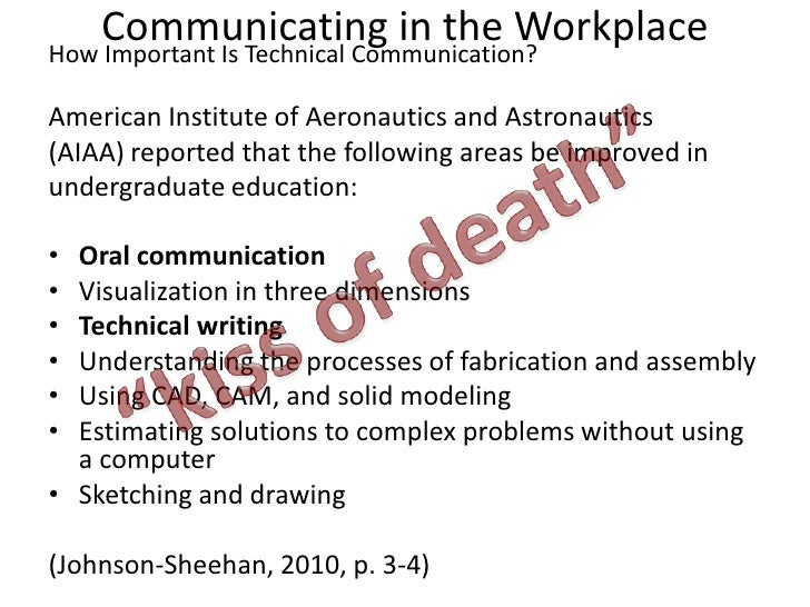 Communicating in the Workplace<br />How Important Is Technical Communication?<br />American Institute of Aeronautics and A...
