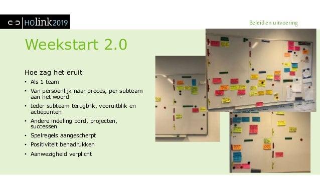 Beleid en uitvoering Weekstart 2.0 Hoe zag het eruit • Als 1 team • Van persoonlijk naar proces, per subteam aan het woord...