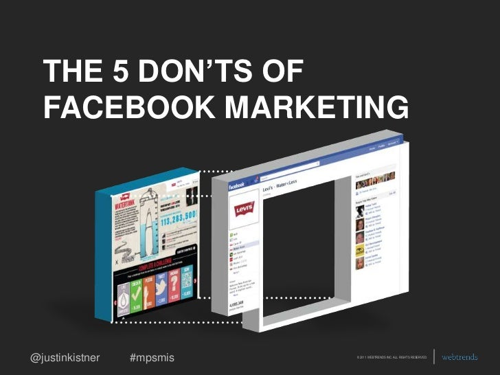 THE 5 DON'TS OF FACEBOOK MARKETING<br />