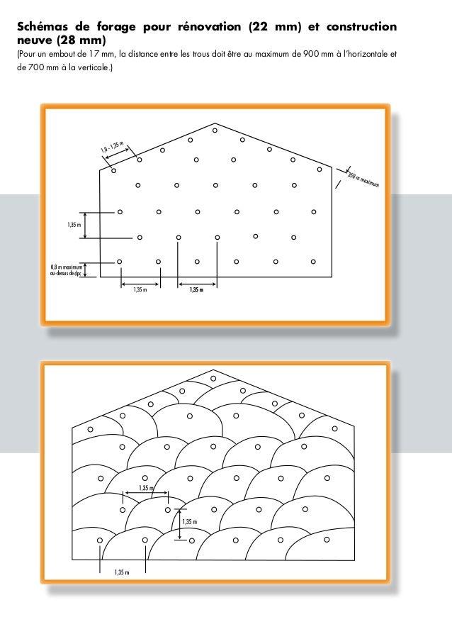 au-dessus deau-dessus de Schémas de forage pour rénovation (22 mm) et construction neuve (28 mm) (Pour un embout de 17 mm,...