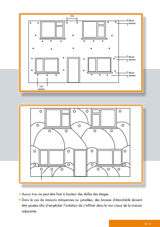 10_11 • Aucun trou ne peut être foré à hauteur des dalles des étages. • Dans le cas de maisons mitoyennes ou jumelées, des...