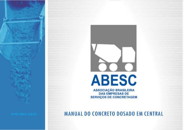 Manual do concreto dosado em central