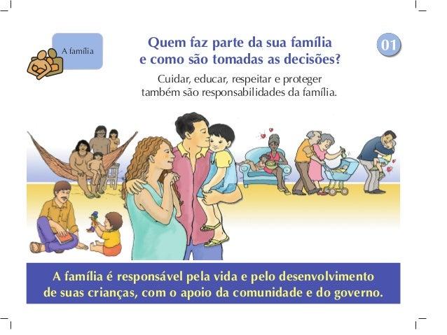 A família é responsável pela vida e pelo desenvolvimento de suas crianças, com o apoio da comunidade e do governo. Quem fa...