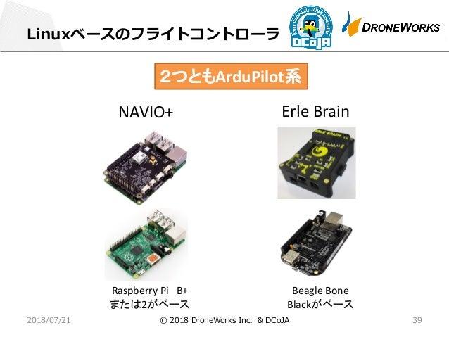 オープンソースを使ったドローンの開発@金沢工大 2018-07-21