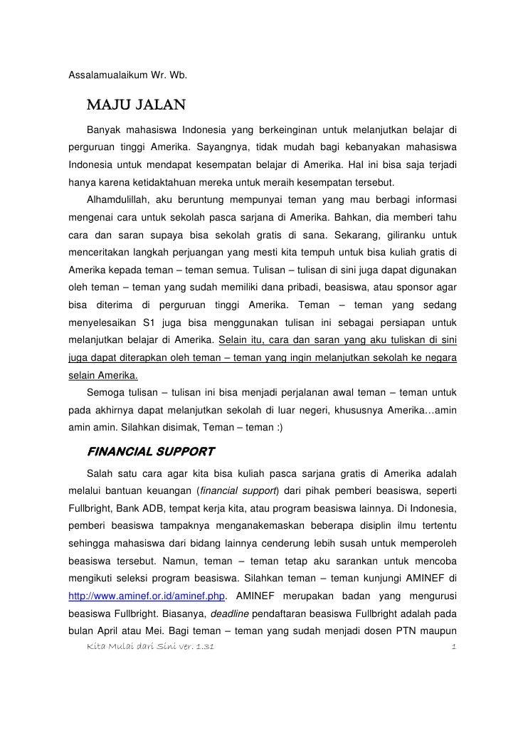 Contoh Application Letter Untuk Beasiswa