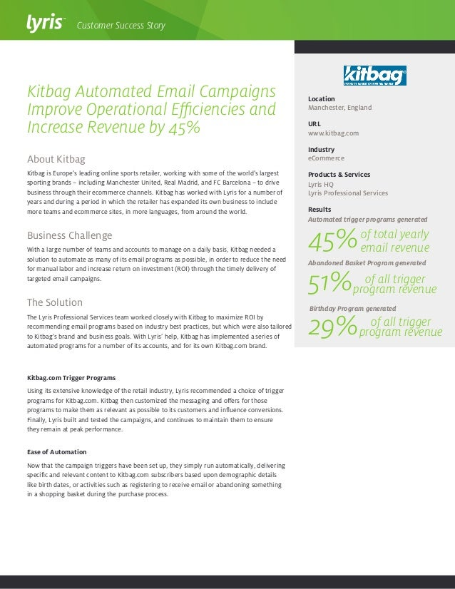 About Kitbag Kitbag is Europe's leading online sports retailer, working with some of the world's largest sporting brands –...