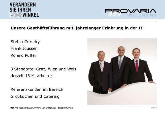 Unsere Geschäftsführung mit jahrelanger Erfahrung in der ITStefan GurszkyFrank JoussenRoland Puffer3 Standorte: Graz, Wien...