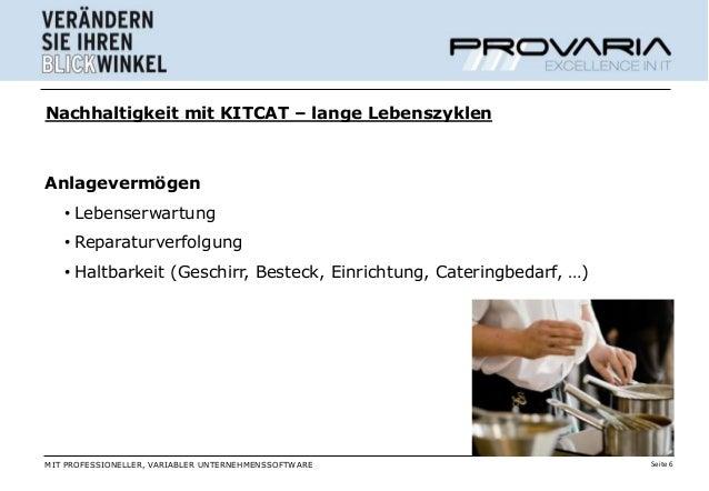 Nachhaltigkeit mit KITCAT – lange LebenszyklenAnlagevermögen   • Lebenserwartung   • Reparaturverfolgung   • Haltbarkeit (...