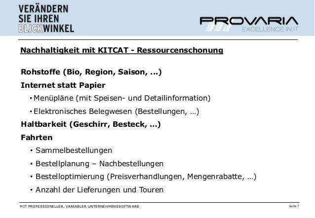 Nachhaltigkeit mit KITCAT - RessourcenschonungRohstoffe (Bio, Region, Saison, ...)Internet statt Papier    • Menüpläne (mi...