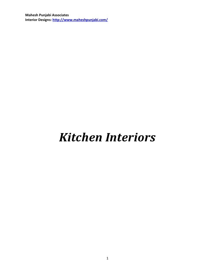 Mahesh Punjabi AssociatesInterior Designs: http://www.maheshpunjabi.com/                   Kitchen Interiors              ...