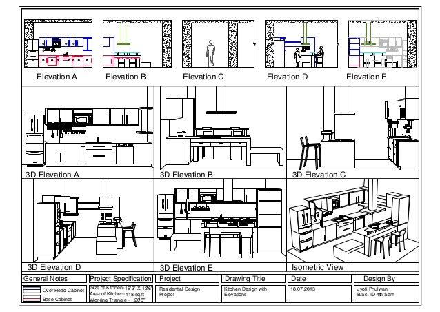 Kitchen Design Elevations interior design elevation drawings