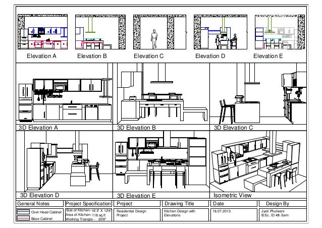 Kitchen 3d elevations layout1 jyoti fulwani b sc interior - General notes for interior design drawings ...