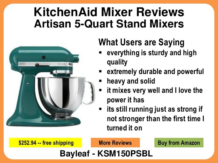 Kitchenaid mixer reviews for artisan 5 quart stand mixers - Kitchenaid mixer bayleaf ...