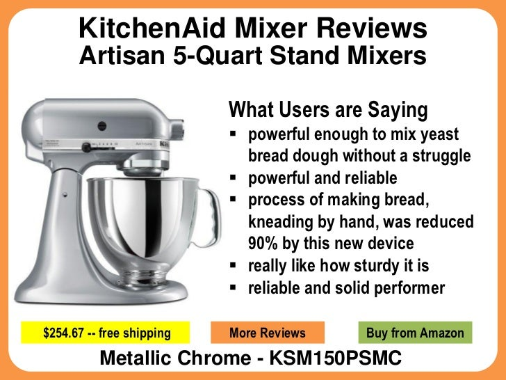 Kitchenaid Mixer Reviews For Artisan 5 Quart Stand Mixers