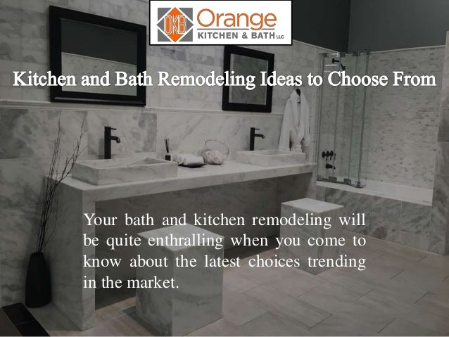 Kitchen and Bath Remodeling Ideas to Choose From