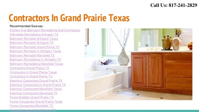 ... 11. Contractors In Grand Prairie Texas Recommended Sources: Kitchen And Bathroom  Remodeling And Contractors Affordable Remodeling Arlington ...