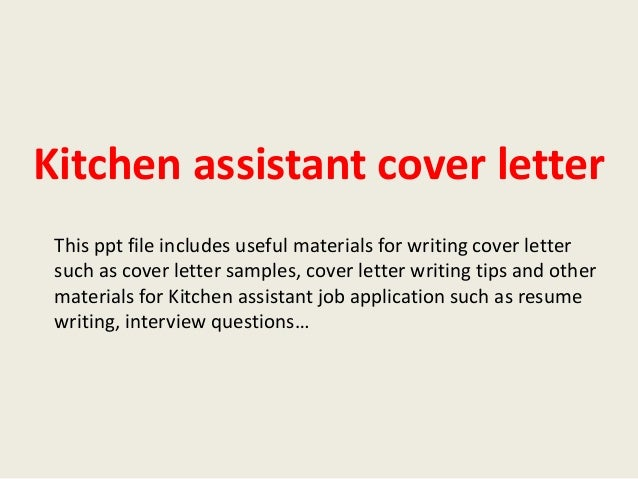 Cover Letter For Kitchen Helper Kitchen Helper Cover Letter