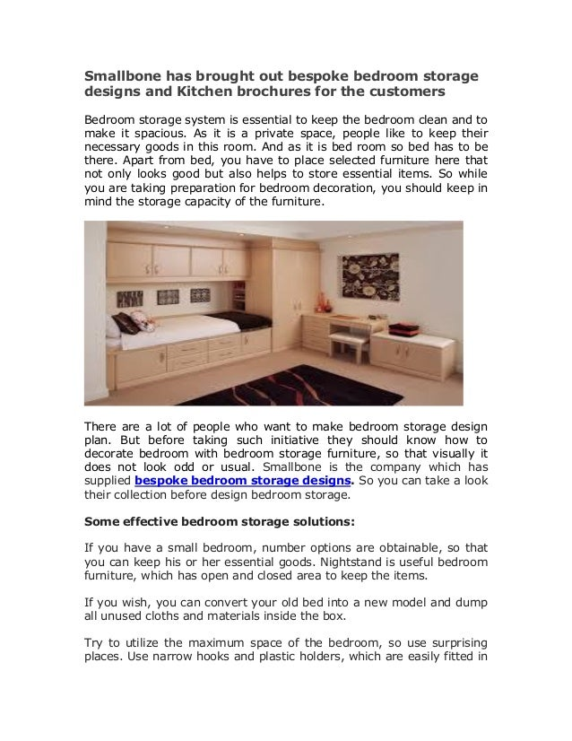 Kitchen brochures and bespoke bedroom storage designs