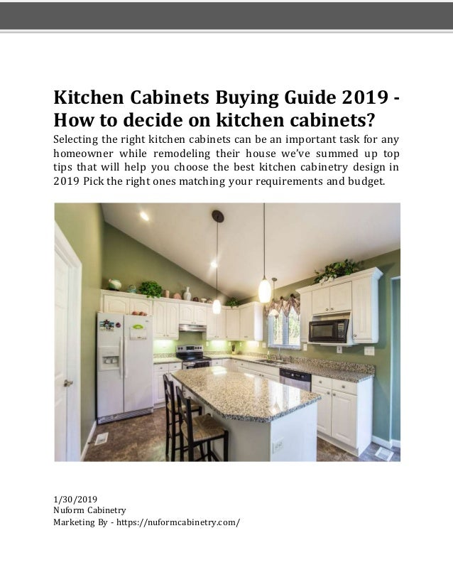 Kitchen cabinets buying guide in 2019