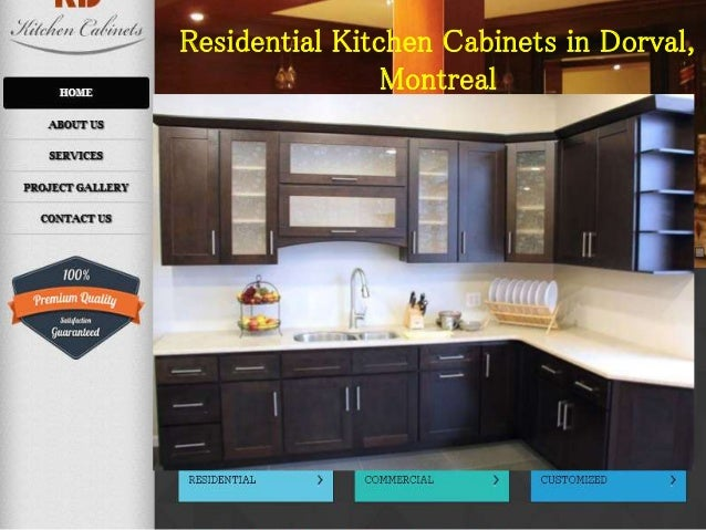 residential kitchen cabinets in dorval montreal - Kd Kitchen Cabinets