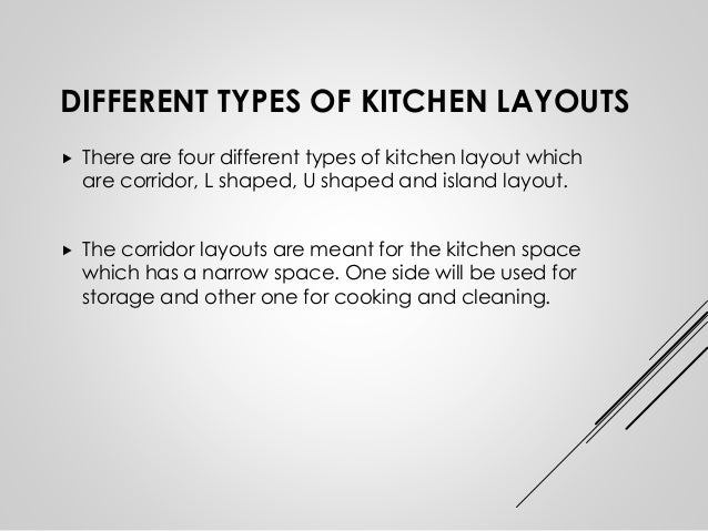 Kitchen design layouts and ideas Different types of kitchen designs