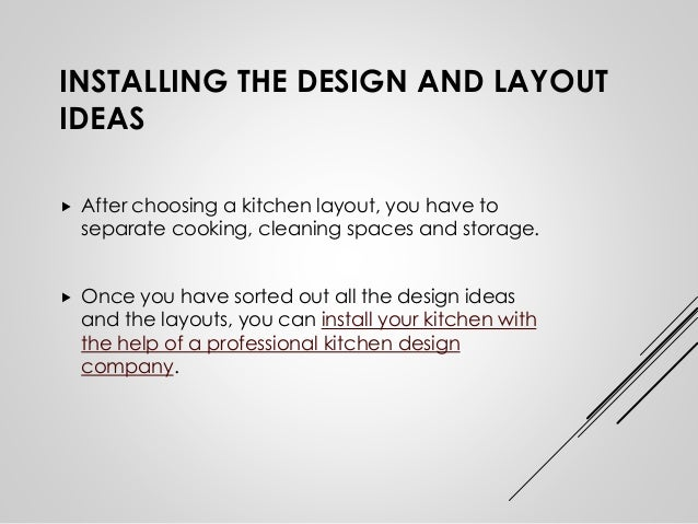 8. INSTALLING THE DESIGN AND LAYOUT IDEAS ...