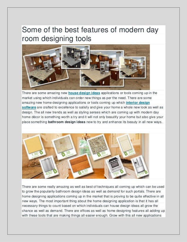 Some Of The Best Features Of Modern Day Room Designing Tools There Are Some  Amazing New ...