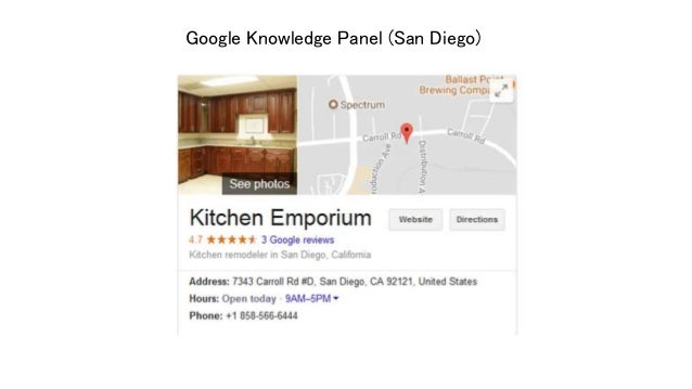 Google Knowledge Panel (San Diego) ...
