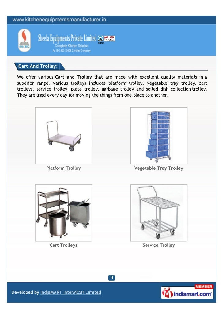 Cart And Trolley:We offer various Cart and Trolley that are made with excellent quality materials in asuperior range. Vari...