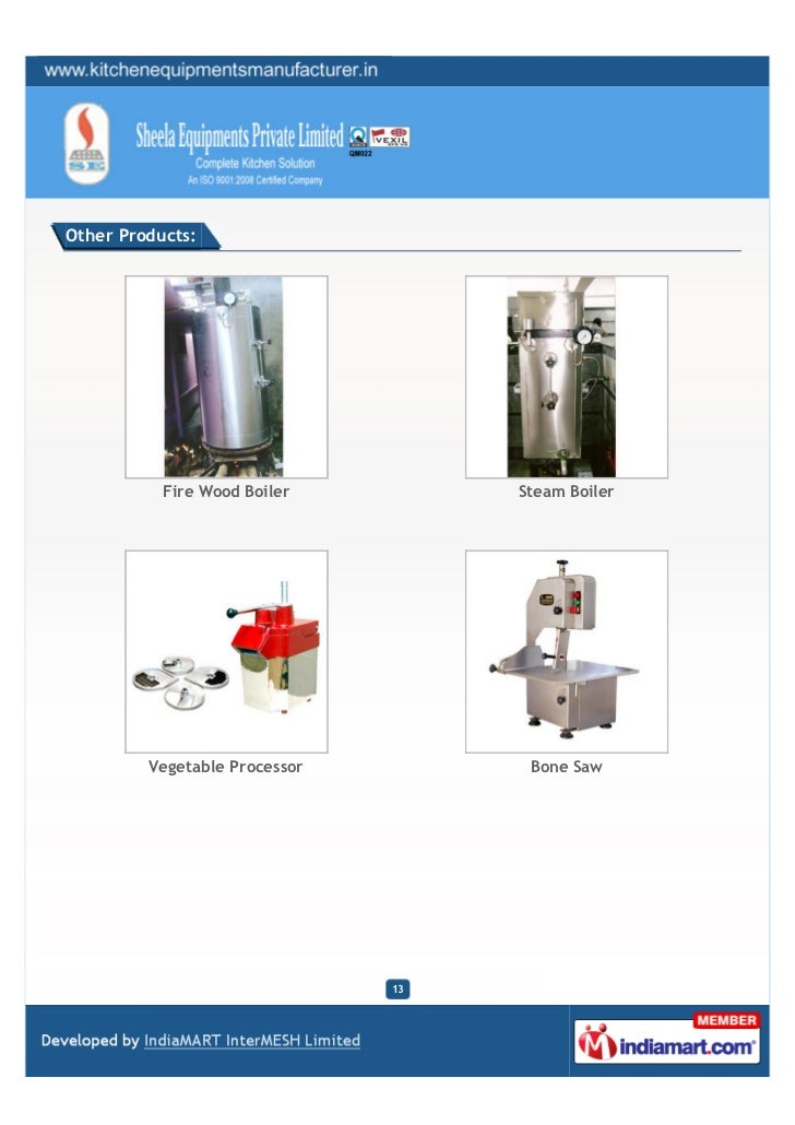 Other Products:           Fire Wood Boiler         Steam Boiler         Vegetable Processor         Bone Saw              ...