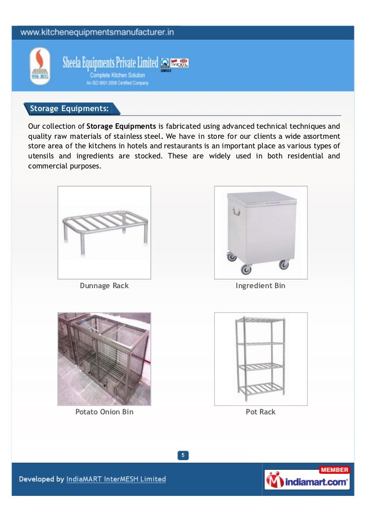 Storage Equipments:Our collection of Storage Equipments is fabricated using advanced technical techniques andquality raw m...