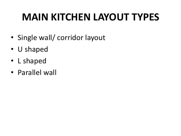 10 Main Kitchen Layout