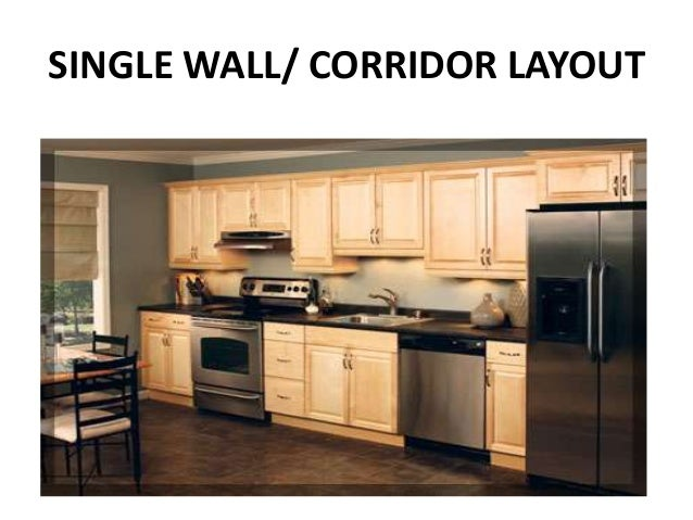 Kitchen layouts module 9 management of food preparation for Kitchen design one wall
