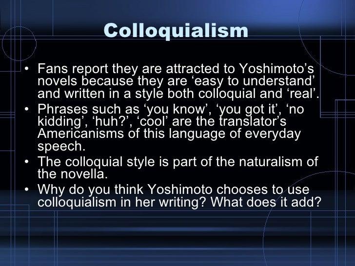 colloquial