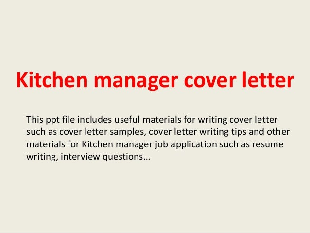 kitchen assistant cover letter. automation manager cover letter ...