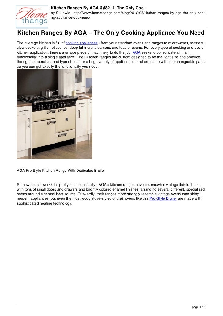 Kitchen Ranges By AGA – The Only Coo...                     by S. Lewis - http://www.homethangs.com/blog/2012/05/kitchen-r...