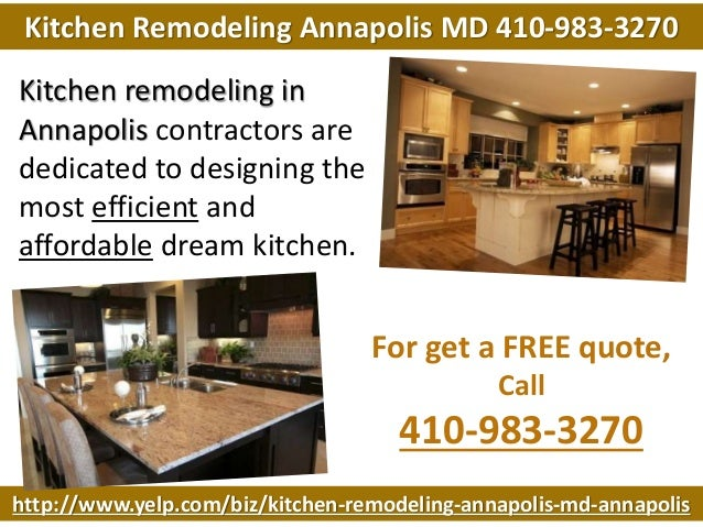Kitchen Remodeling Annapolis MD 410-983-3270